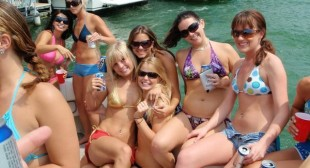 SEXY Ladies at Devil's Cove Lake Travis Memorial day weekend 2011 Austin,Texas